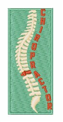 Chiropractor embroidery design