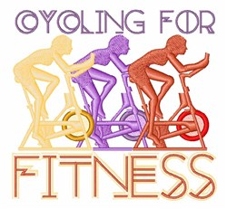 Cycling Fitness embroidery design