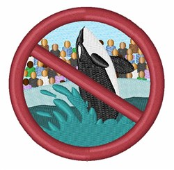 Save Orcas embroidery design