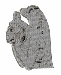 Gargoyle embroidery design