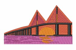 Sunshine Bridge embroidery design