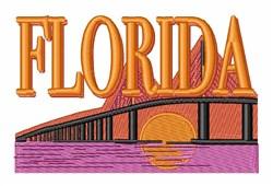 Florida Bridge embroidery design