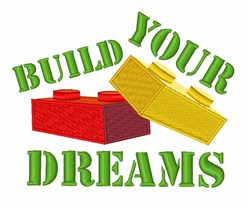 Build Dreams embroidery design