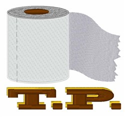 TP Roll embroidery design