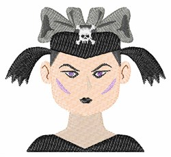 Goth Girl embroidery design