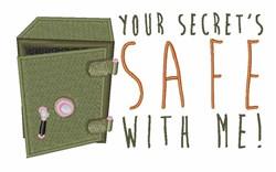 Secrets Safe embroidery design