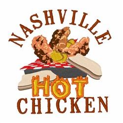 Nashville Chicken embroidery design