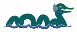 Sea Monster embroidery design