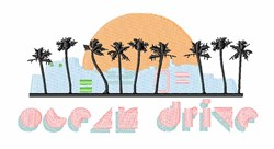 Ocean Drive embroidery design