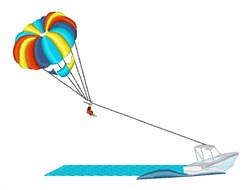 Parasailing embroidery design