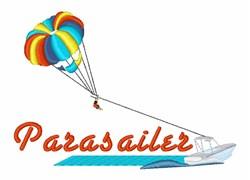 Parasailer embroidery design