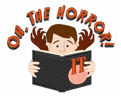 The Horror embroidery design