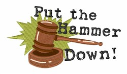 Gavel Hammer Down embroidery design