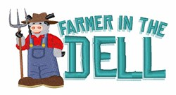 Farmer Cow embroidery design