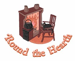 Round the Hearth embroidery design