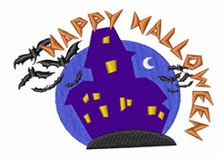 Halloween Haunted House embroidery design