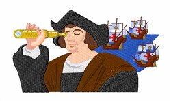 Christopher Columbus embroidery design