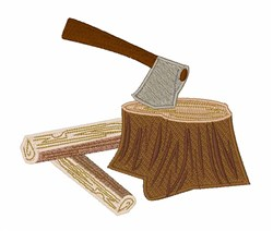 Axe in Stump embroidery design