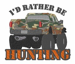 Rather Be Hunting embroidery design