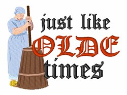 Olde Times embroidery design