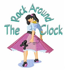 Rock Around Clock embroidery design