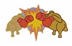 Turkey vs Chicken embroidery design