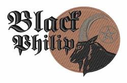 Black Philip embroidery design