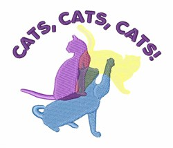 Cats Cats Cats embroidery design