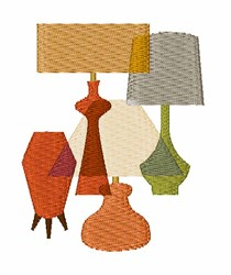 Table Lamps embroidery design