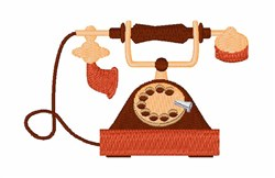 Old Style Telephone embroidery design