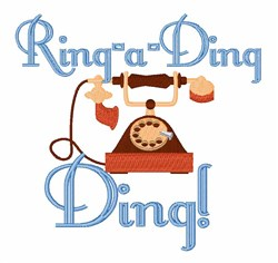Ring-a-Ding Ding embroidery design