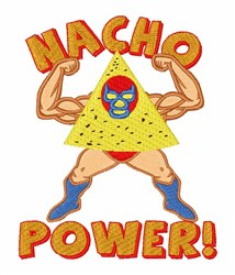 Nacho Power embroidery design