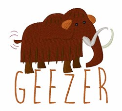Mammoth Geezer embroidery design