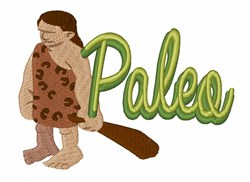 Paleo Man embroidery design