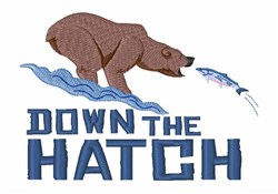 Down the Hatch embroidery design