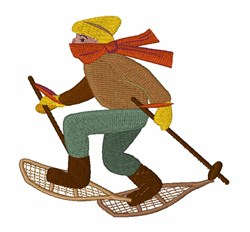 Snow Shoe Man embroidery design