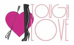 Tough Love embroidery design