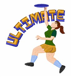 Ultimate Frisbee embroidery design