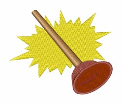 Toilet Plunger embroidery design