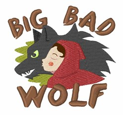 Big Bad Wolf embroidery design