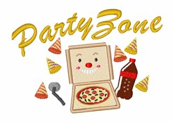 Party Zone embroidery design