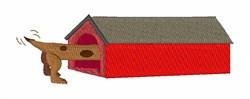 Weiner Dog House embroidery design