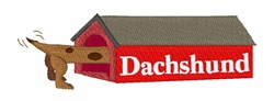 Dachshund House embroidery design