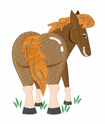 Horses Ass embroidery design