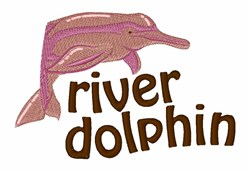 River Dolphin embroidery design