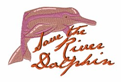 Save River Dolphin embroidery design