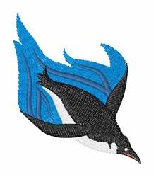 Swimming Penguin embroidery design