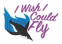 Wish I Could Fly embroidery design