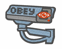 Obey Camera embroidery design