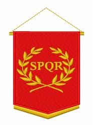 SPQR Banner embroidery design